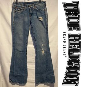 True Religion Women's Size 28 Denim Jeans Bootcut